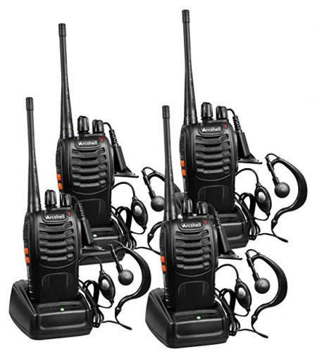 Arcshell Rechargeable Long Range Two-Way Radios with Earpiece